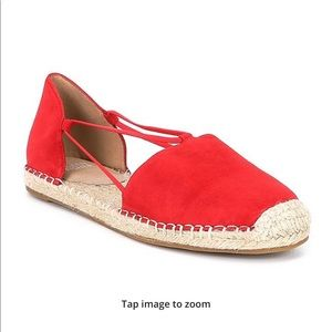 Eileen Fisher Red Leather Espadrilles Size 7.5M